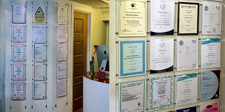 Certificate Display Ideas For A Beauty Salon Sign Holders By Green Magic S Blog