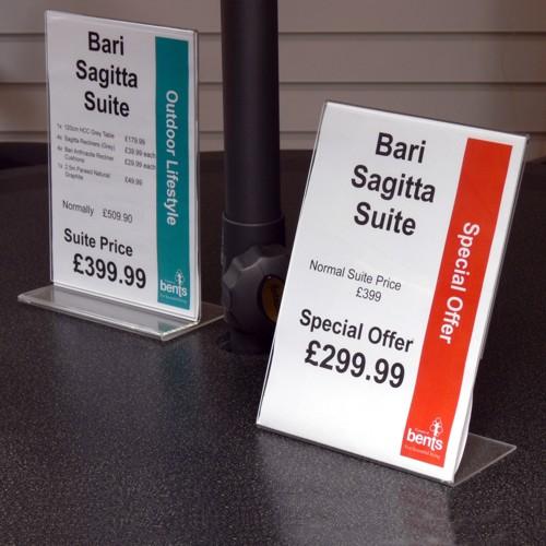 Table Sign Holders By Sign Holders SignHolderscouk - Restaurant table talkers