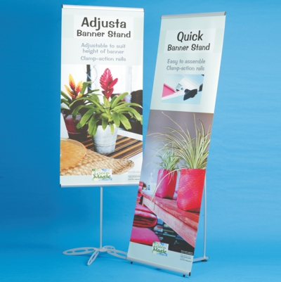 Economical banner stands