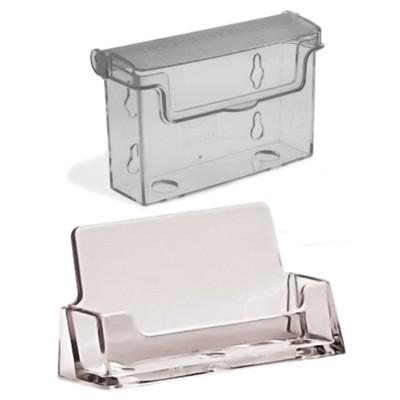 Outdoor and table top business card holders