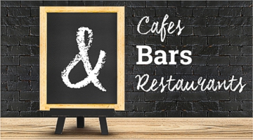 Collection of products for cafes bars and restaurants