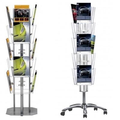 Multi-sided brochure racks
