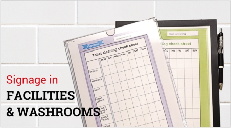 Advertising & Cleaning records frames in toilets | Sign