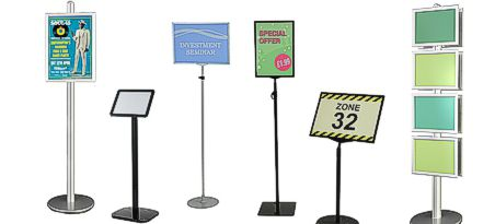 Floor Sign Holders Free Standing Poster Stands Sign Holderscouk