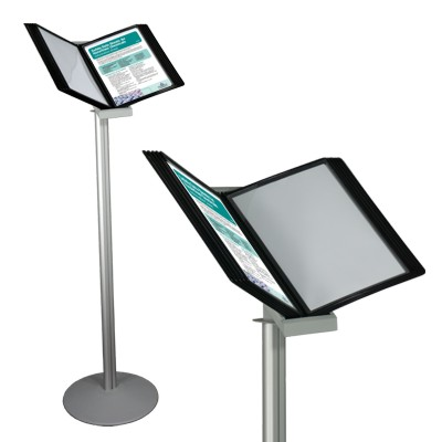 Catalogue page browser on a stable floor stand