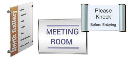 Office Signs Door Signs Using Printed Inserts In Acrylic Or