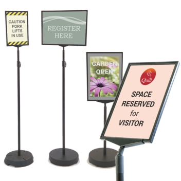 Floor Sign Holders Free Standing Poster Stands Sign Holders Co Uk