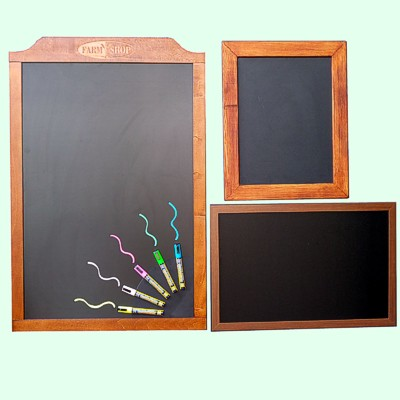 Wooden chalkboards single and double sided