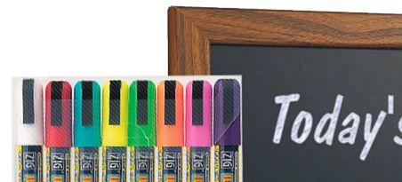 Blackboard with chalk pen writing