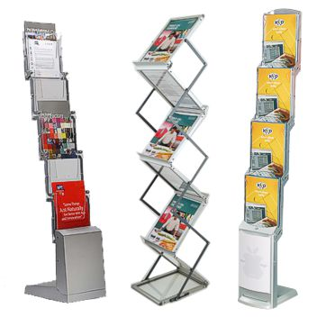 Fold-up brochure stands are perfect for exhibitions