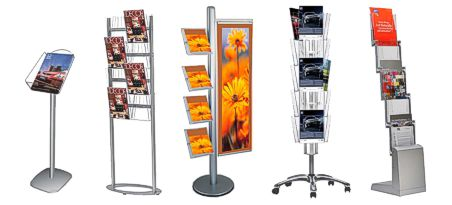 Literature display stands - for exhibitions, trade shows and showroom