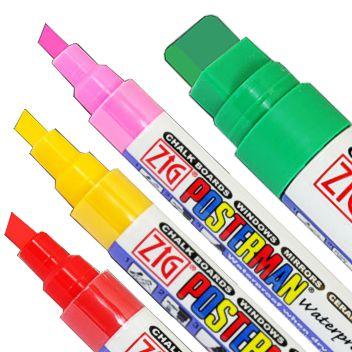 Outdoor waterproof chalk marker pens - Zig Posterman