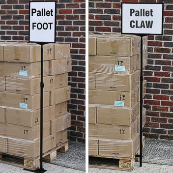 Various pallet signage solutions are offered