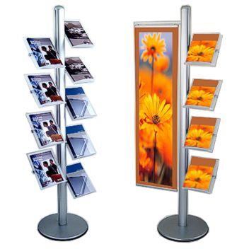 Smart and substantial showroom brochure racks