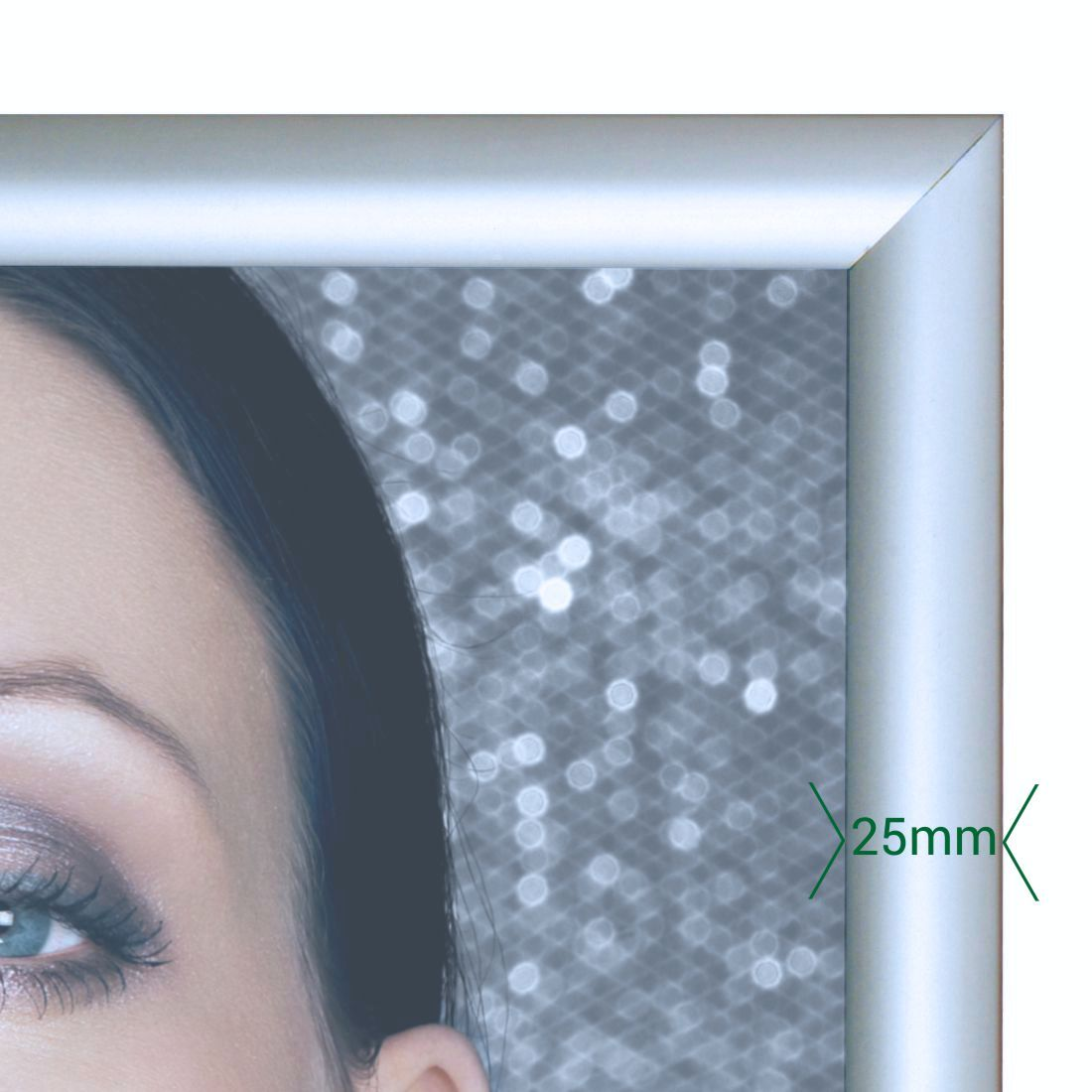 c70420cbd58 Snap frames poster holders - silver 25mm