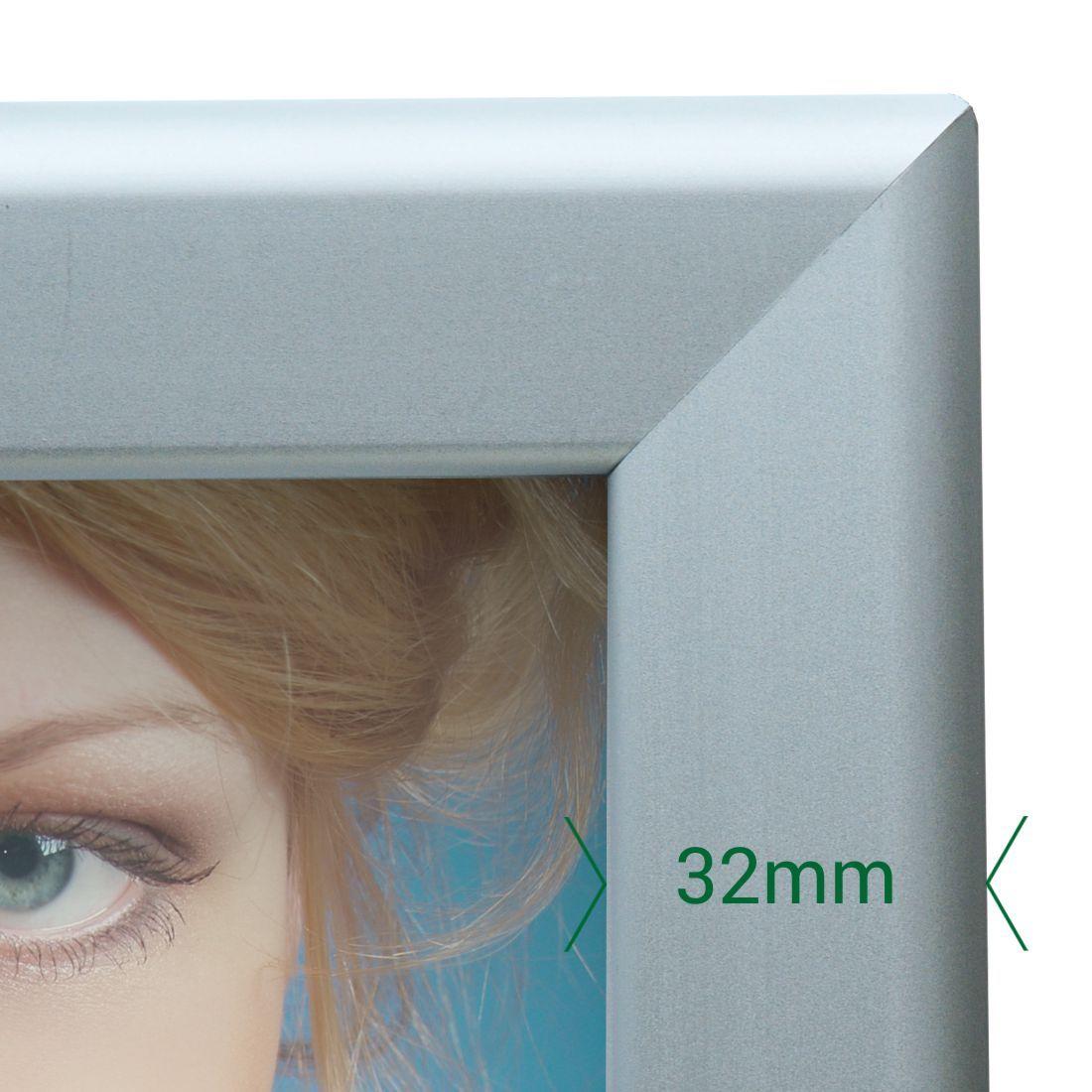 A0 A1 40x30 Snap Frames 32mm Sign Holderscouk