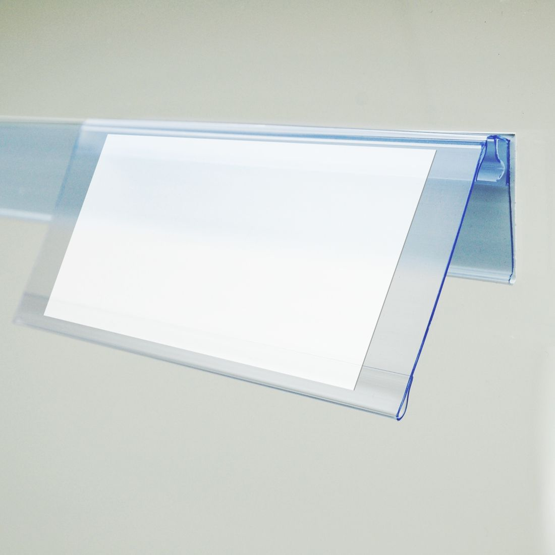 hinged shelf talkers for data strip