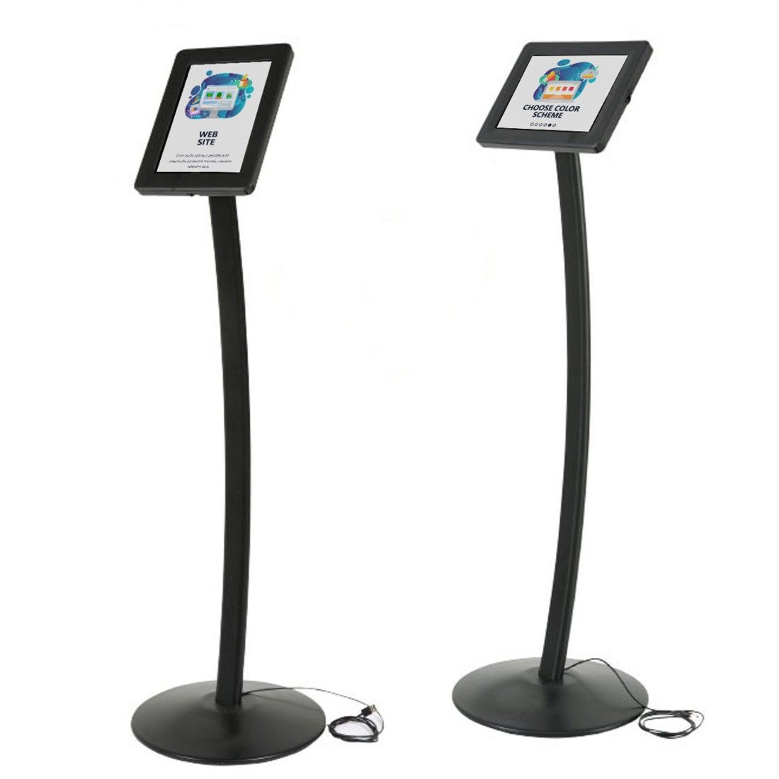 Curve Free Standing Ipad And Tablet Floor Stand Sign Holders