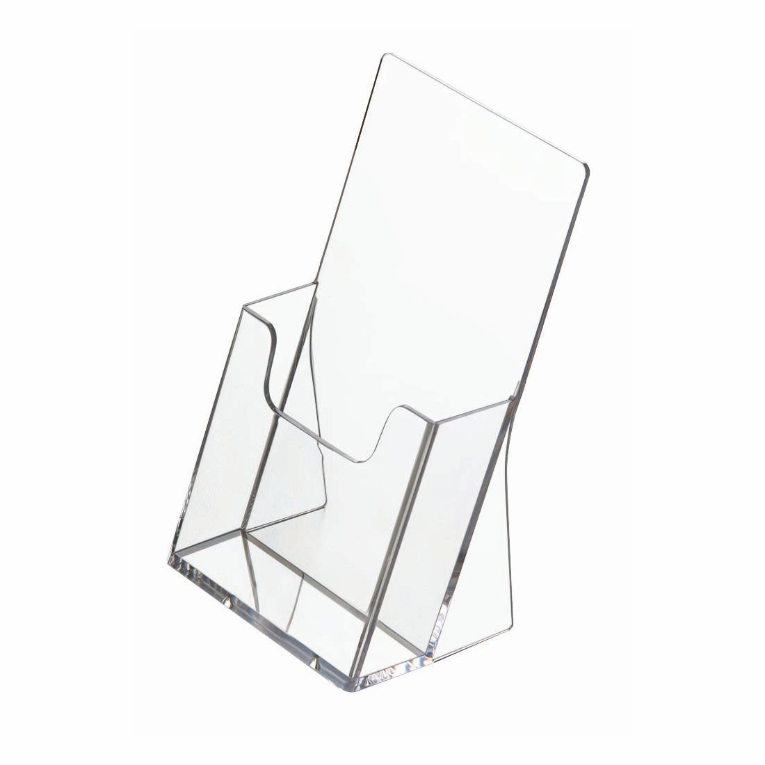 5 DL Trifold Wall Mount Leaflet Menu Brochure Holder Retail Display Dispenser