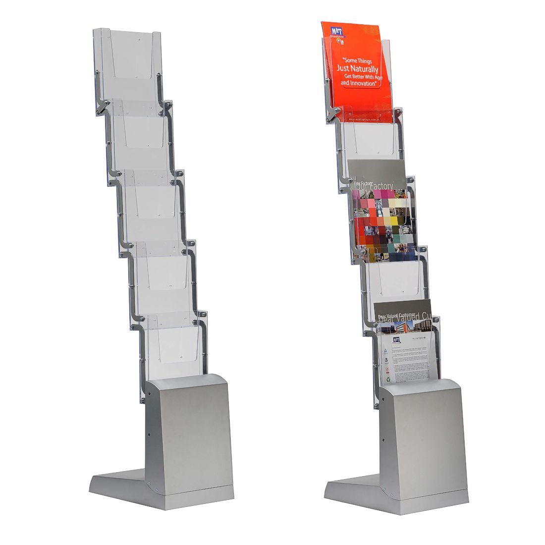 A4 Leaflet Display Stand A4 Pop Up Literature Stands For
