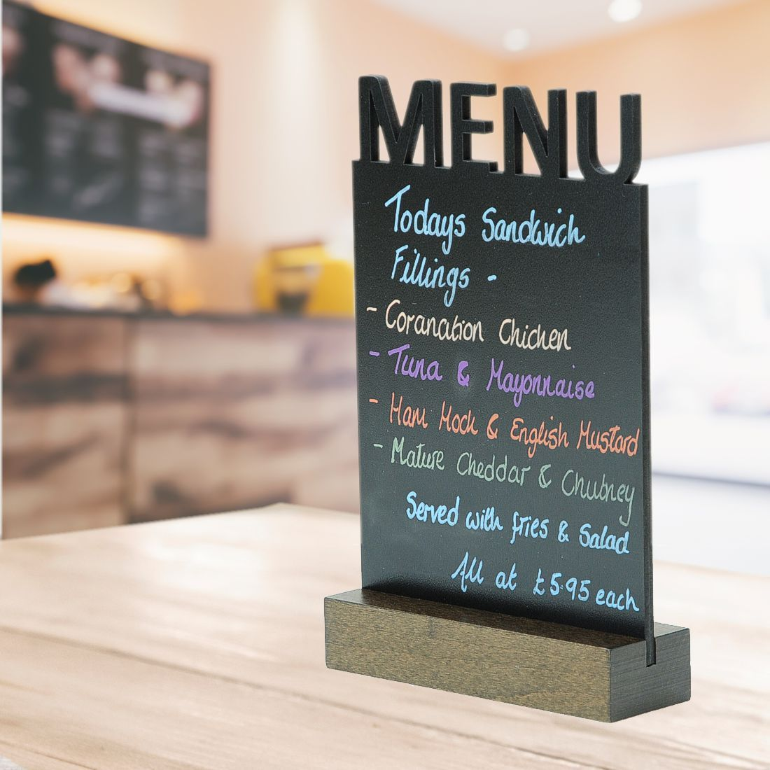 A5 Table Top Chalkboard Menu Sign Sign Holders Co Uk