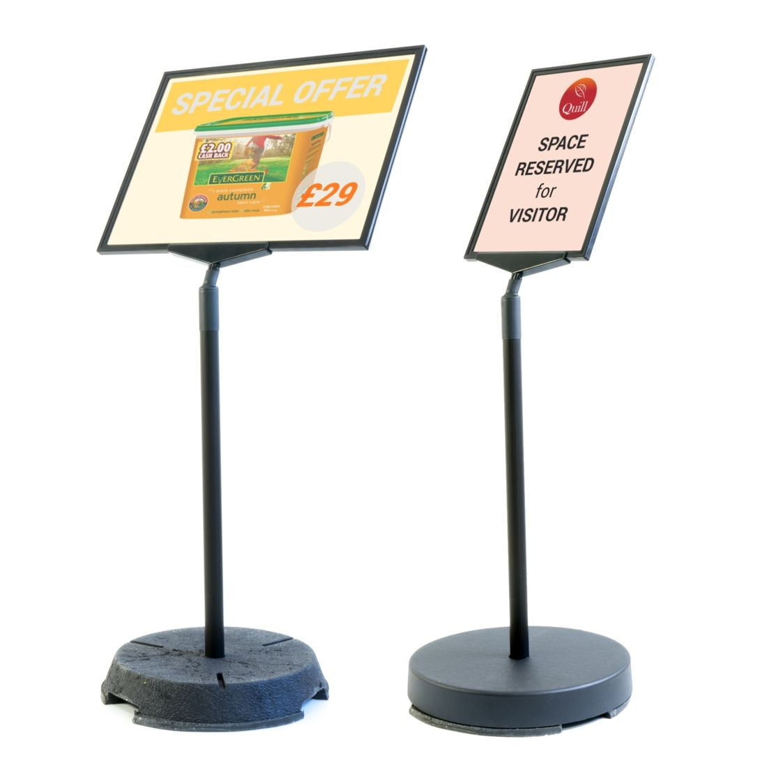 Short Outdoor Floor Stands For A3 And A4 Sign