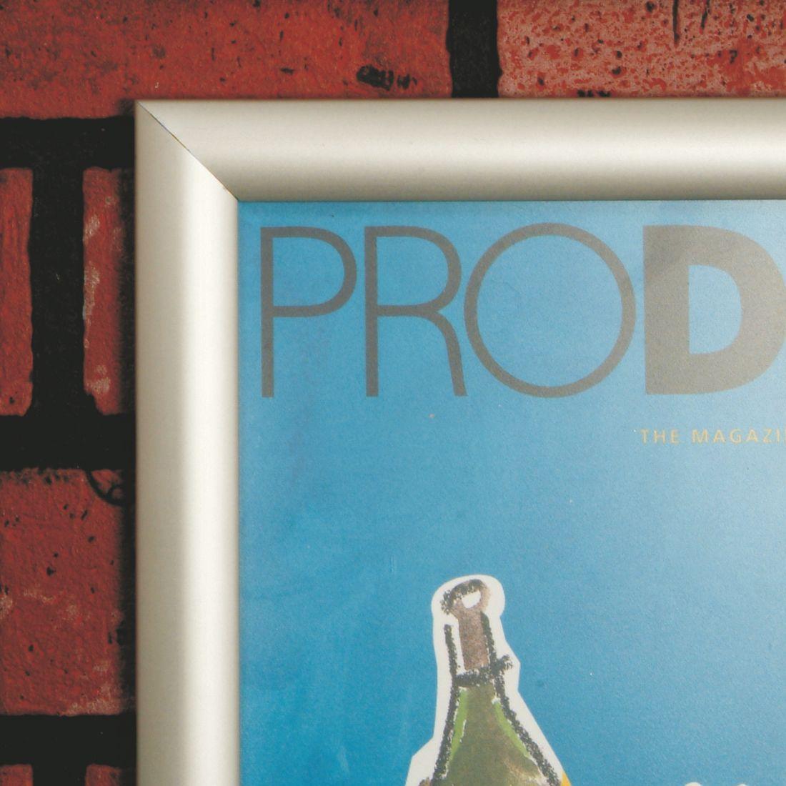 Snap frames poster holders - silver 25mm   Sign-Holders.co.uk