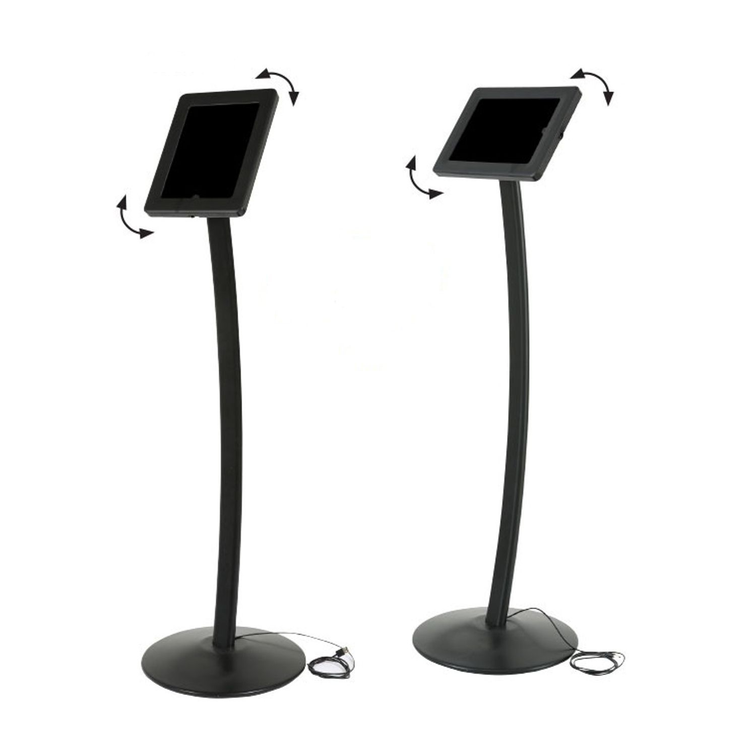 Curve Free Standing Ipad And Tablet Floor Stand Sign