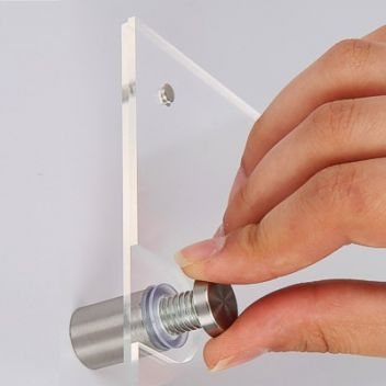 Stand-off wall fittings with picture frame