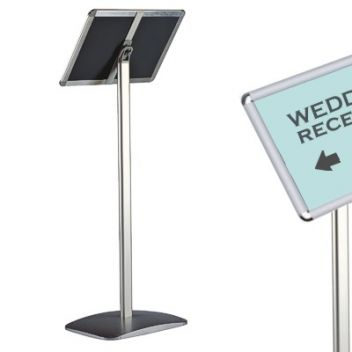 Dual use landscape and protrait floor sign stand