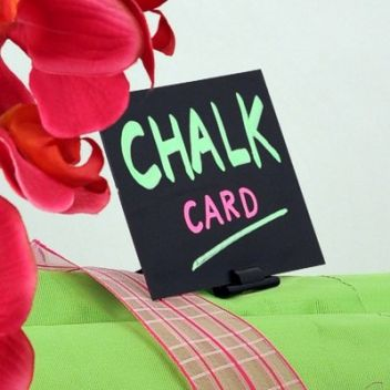 Chalkcard with exo clip stand