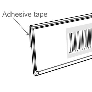 Adhesive flat front data strip