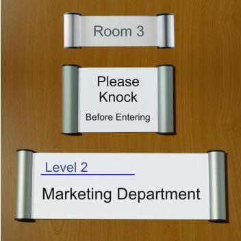 Snap door signs | Low cost door nameplate holders with easy