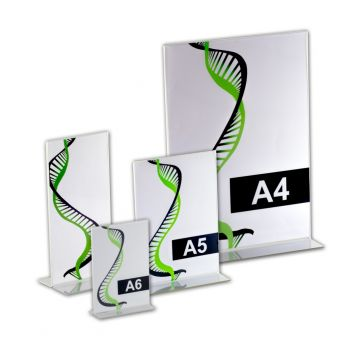 Double sided table sign holders