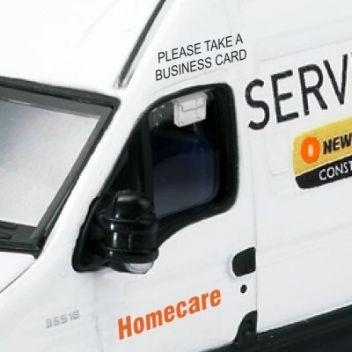 Van mounted business card holder