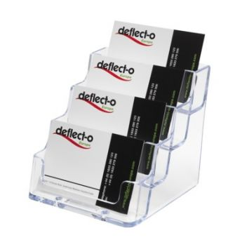 4 stacked pocket business card holders