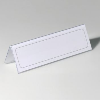 Table name holder for printed inserts