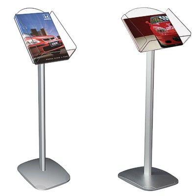 floor leaflet dispenser brochure stand sign. Black Bedroom Furniture Sets. Home Design Ideas