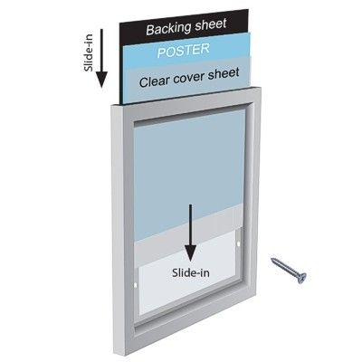 Slide-in poster frames - Wall mounted | Sign-Holders.co.uk