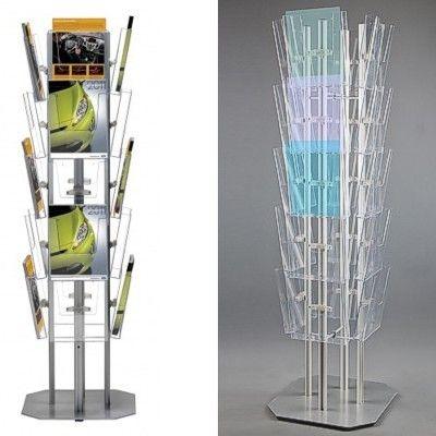4-Sided brochure display rack