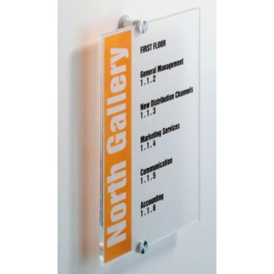 A4 Acrylic sign holder with standoffs