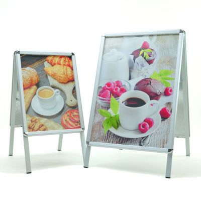 A Boards silver - A1 & A2 poster sizes