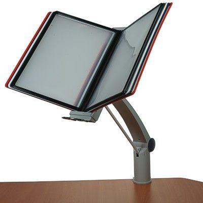 Clamp on adjustable desk display