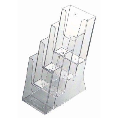 DL literature dispenser - tiered 4-bay