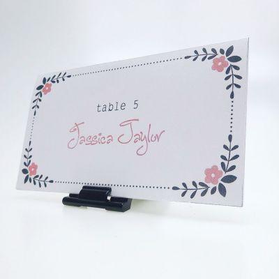 Premium food counter card holders
