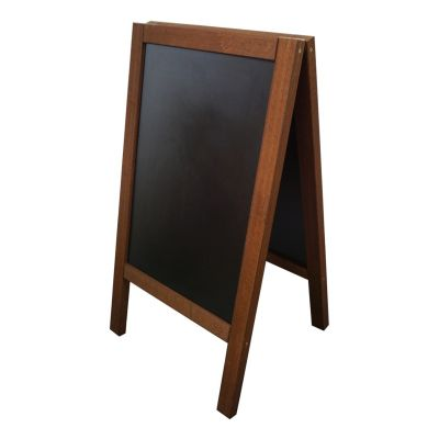 Outdoor wood chalkboard pavement sign