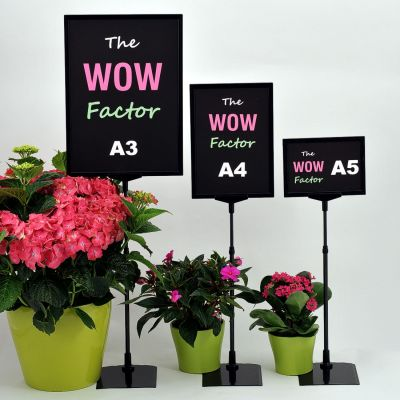 A5, A4 or A3 Sign stand with adjustable height