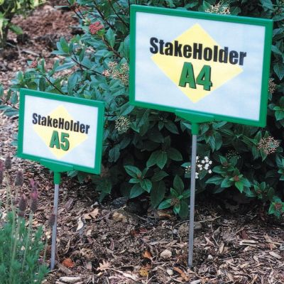 A5 or A4 sign holder with stake to stick into ground