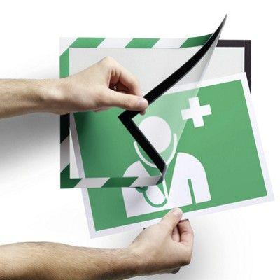 Stick on first aid & information holder