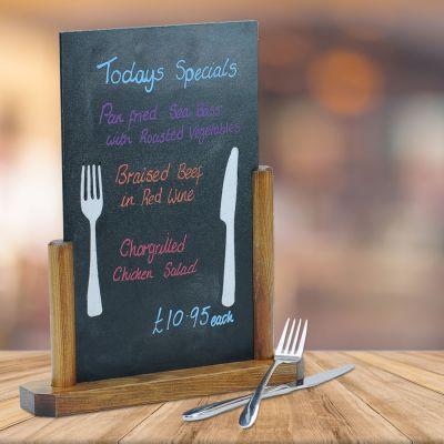 menu advertising table chalkboard